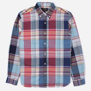 06ceae4569089 Beams Plus Big Check Long Sleeve Shirt