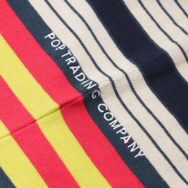 Pop Trading Company Multicolour Striped Long Sleeve T-Shirt