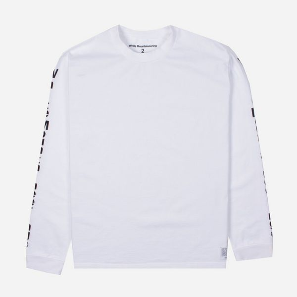 White Mountaineering Logo Print Long Sleeve T-Shirt
