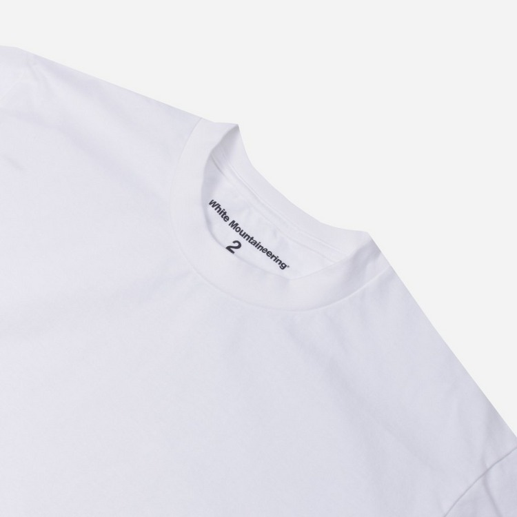 White Mountaineering Logo Print Long Sleeve T-Shirt