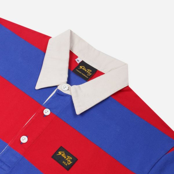 Stan Ray Football Stripe Polo Shirt