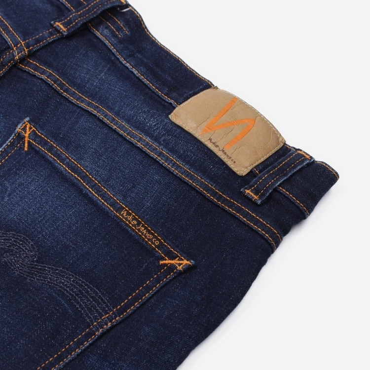 Nudie Jeans Co. Lean Dean Dark Deep Worn Jeans