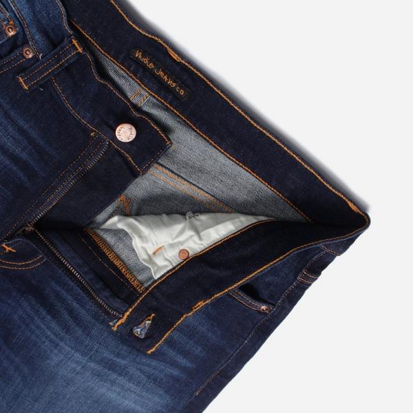 Nudie Jeans Co. Lean Dean Dark Deep Worn Jeans