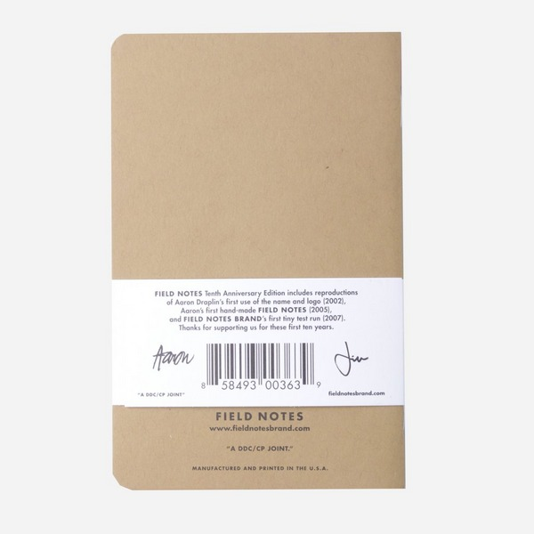 Field Notes 10th Anniversary 3-Pack