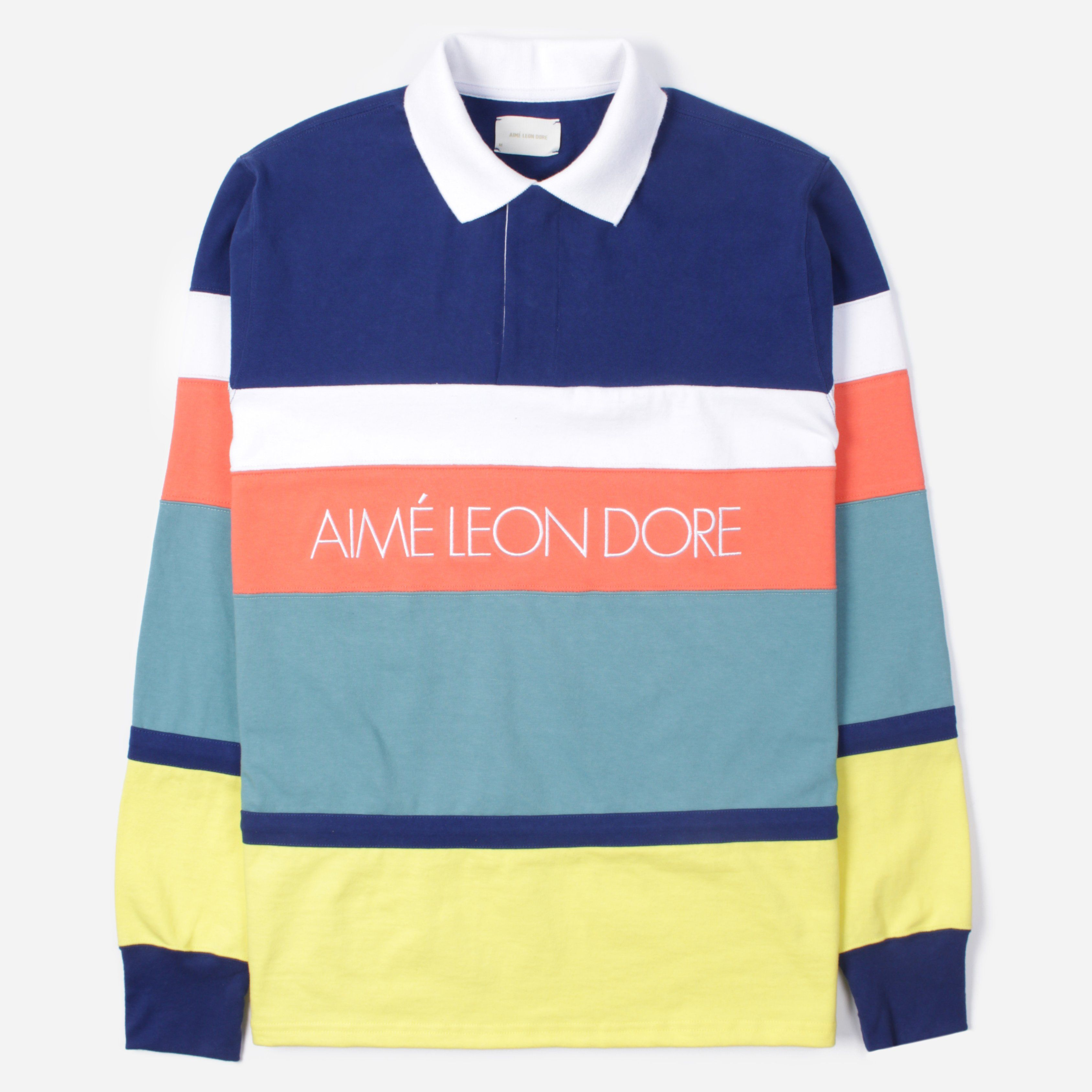 Aime Leon Dore SS19 CT013B LS STRIPPED RUGBY