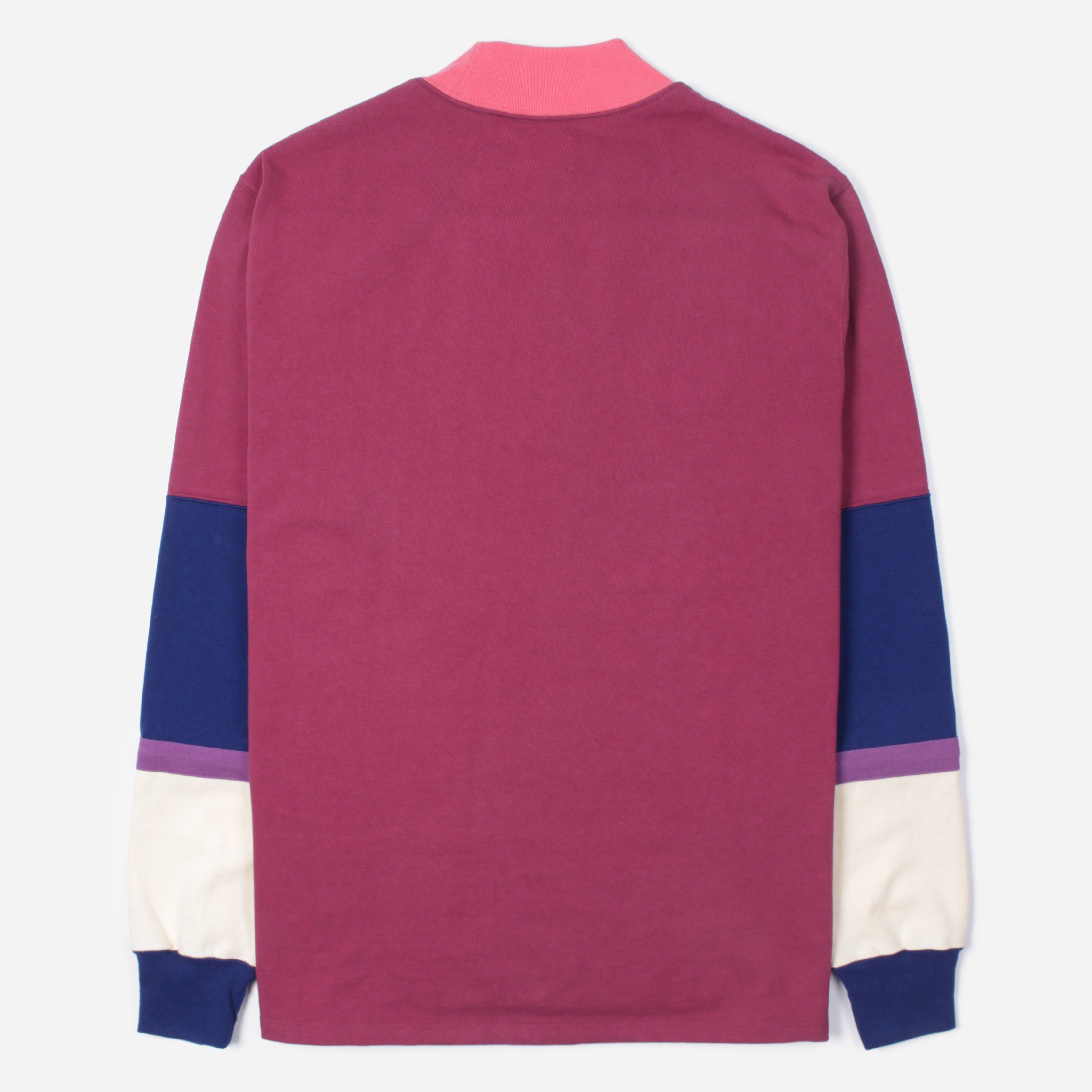 Aime Leon Dore Mock Neck Stripe LS T-Shirt