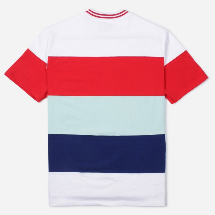Aime Leon Dore Striped Ribbed Collar T-Shirt