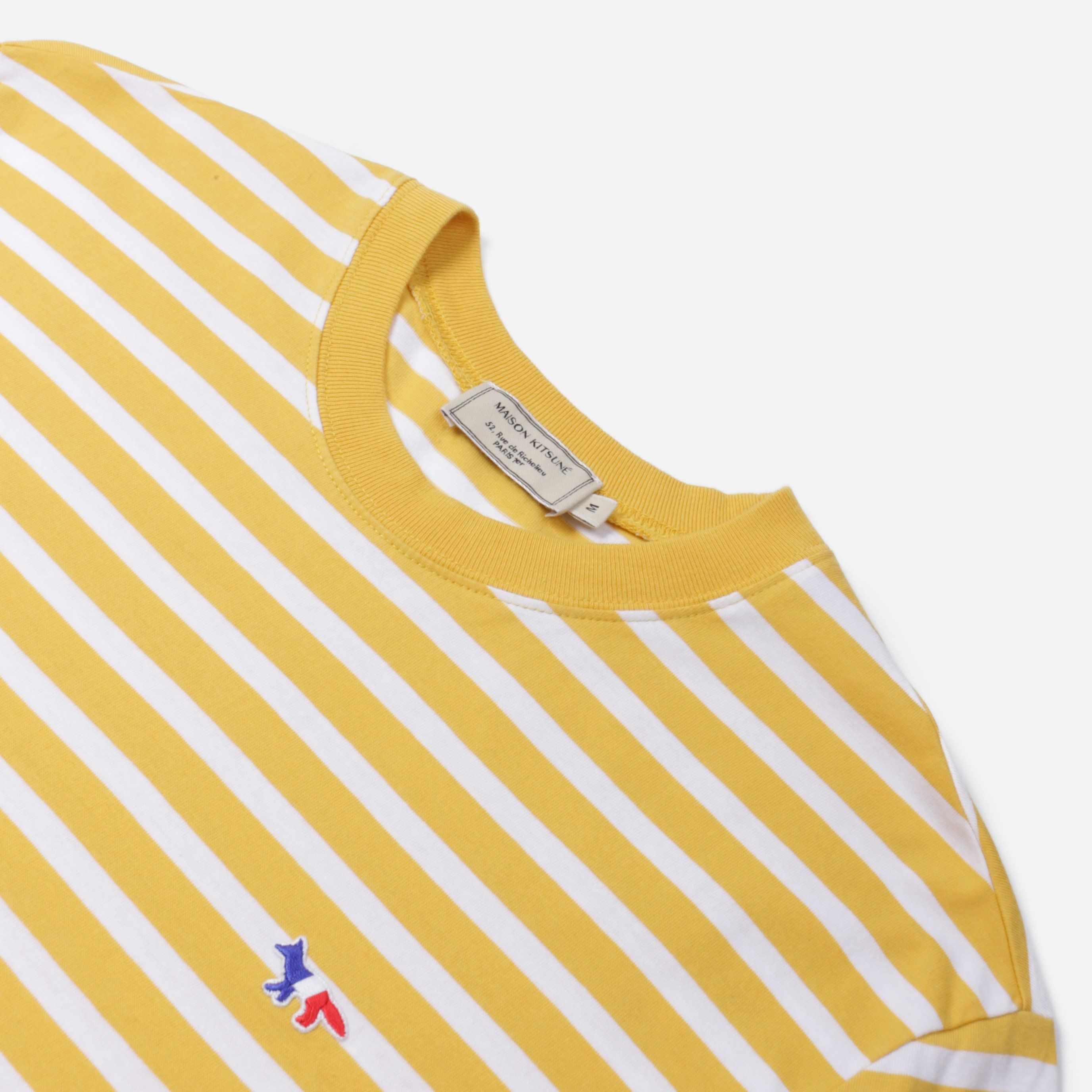 Maison Kitsune J2004 MARIN T-SHIRT TRICOLOUR FOX PATCH