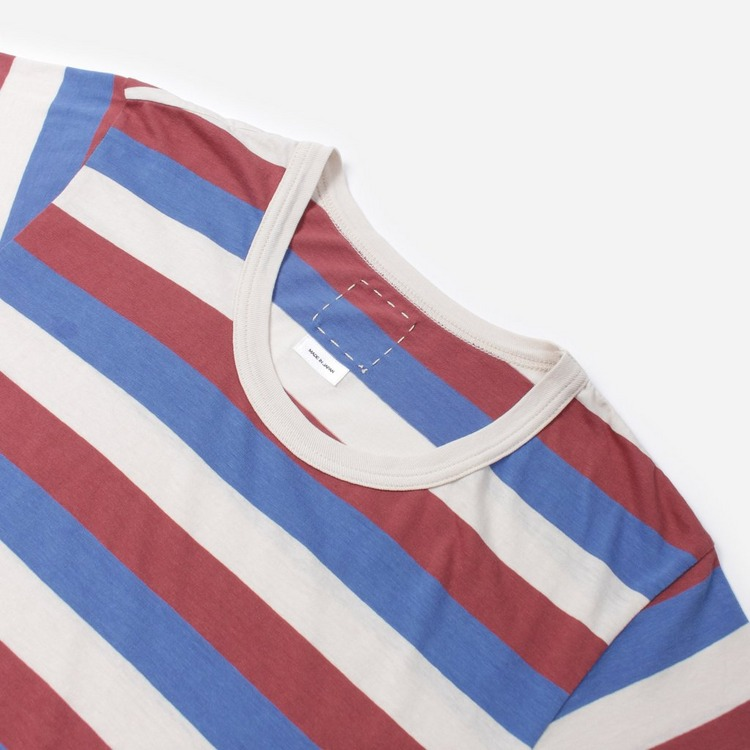 Visvim A Line Short Sleeve Stripe T-Shirt