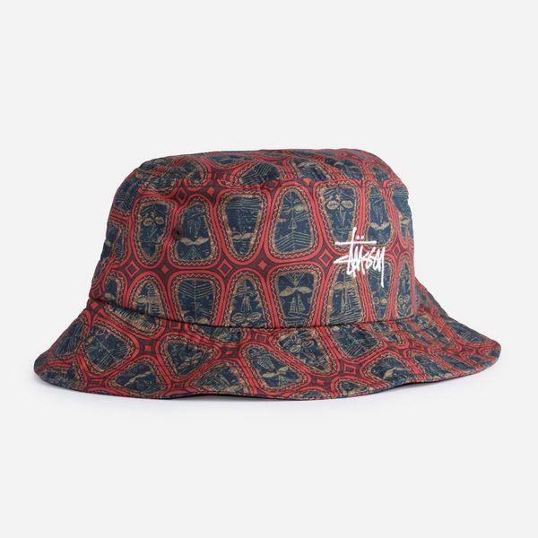 Stussy Mask Pattern Bucket Hat
