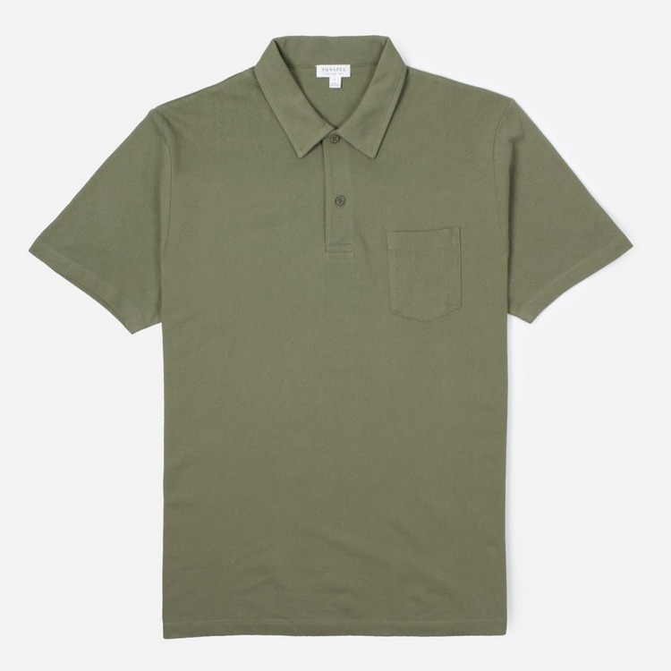 Sunspel Riviera Short Sleeve Polo Shirt