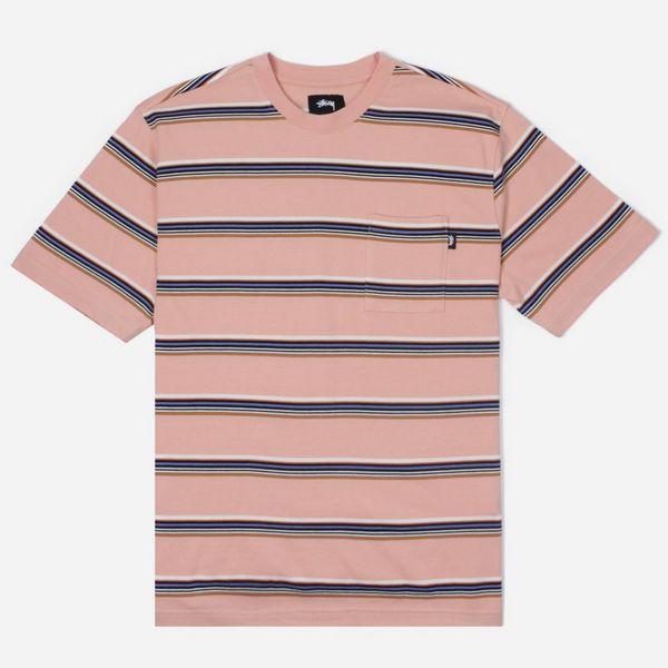 d774ded832 Stussy Malcom Stripe Short Sleeve T-Shirt | The Hip Store