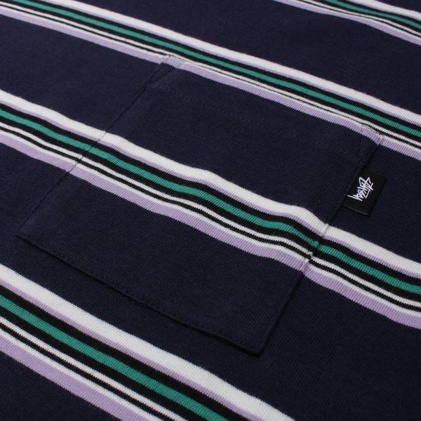 Stussy Malcom Stripe Short Sleeve T-Shirt