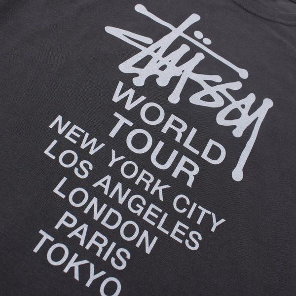 Stussy World Tour Pigment Dyed Short Sleeve T-Shirt