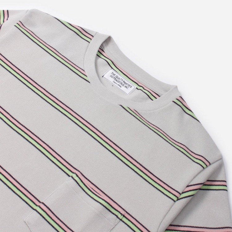 Wacko Maria Stripe Short Sleeve T-Shirt