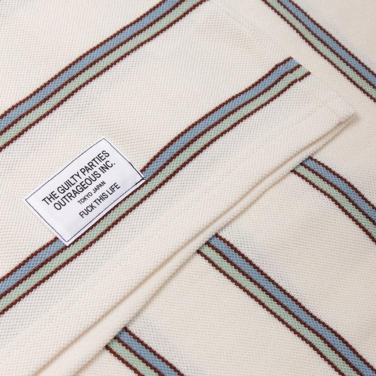 Wacko Maria Stripe Short Sleeve T-Shirt