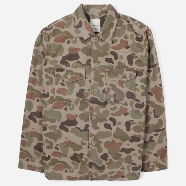 Wood Wood Fabian Long Sleeve Camo Shirt