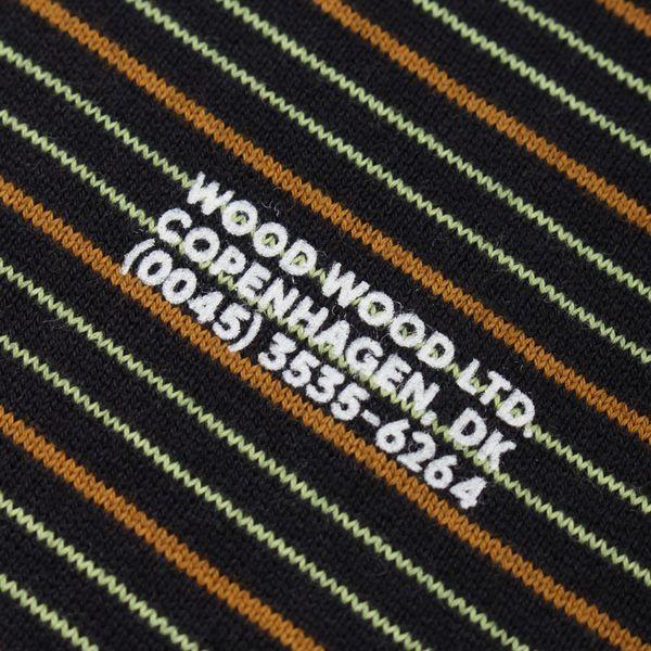 Wood Wood Viggo Long Sleeve Stripe T-Shirt