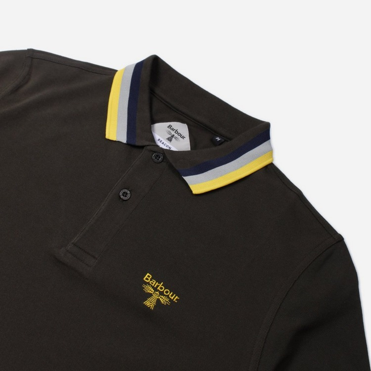 Barbour Beacon Tipped Short Sleeve Polo Shirt