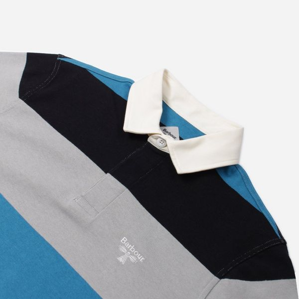 Barbour Beacon Stripe Long Sleeve Rugby Polo Shirt