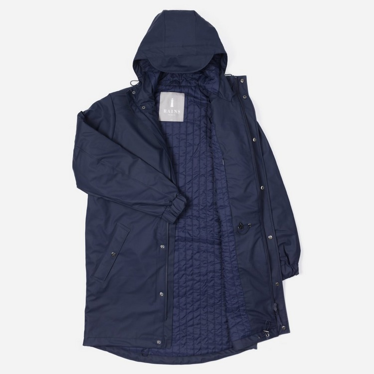 Rains Long Quilted Parka