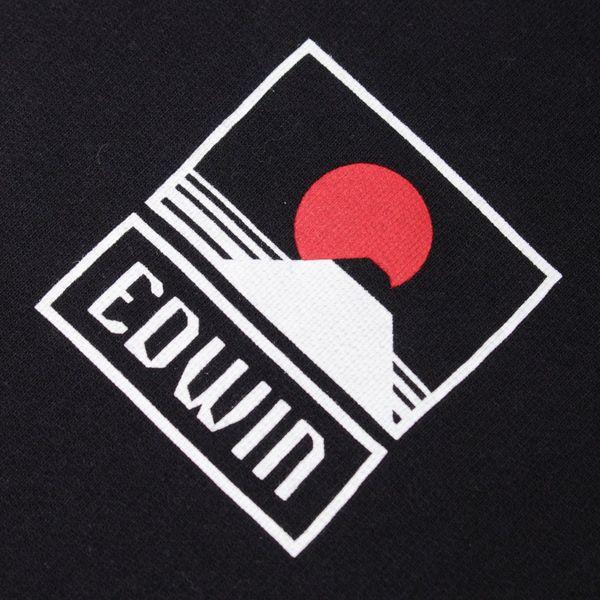 Edwin Sunset On Mt. Fuji Overhead Hoodie