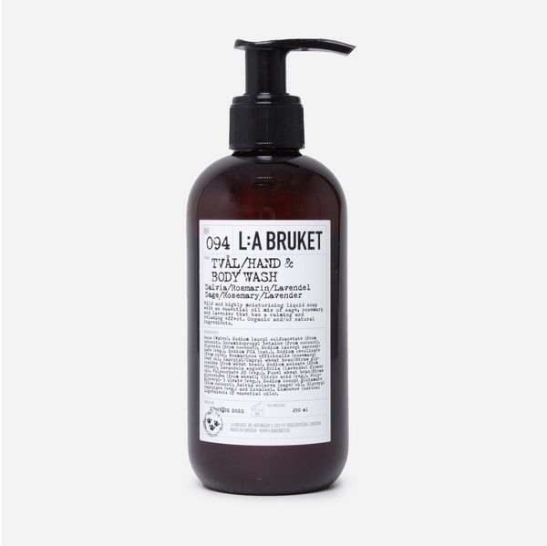 L:A Bruket Hand & Body Wash 250ml - Sage - Rosemary - Lavenderr