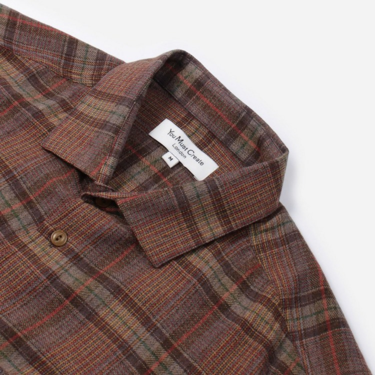 YMC Curtis Shirt Game Wool Check