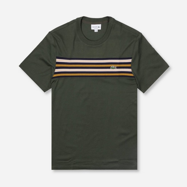 Lacoste Chest Stripe Short Sleeve T-Shirt