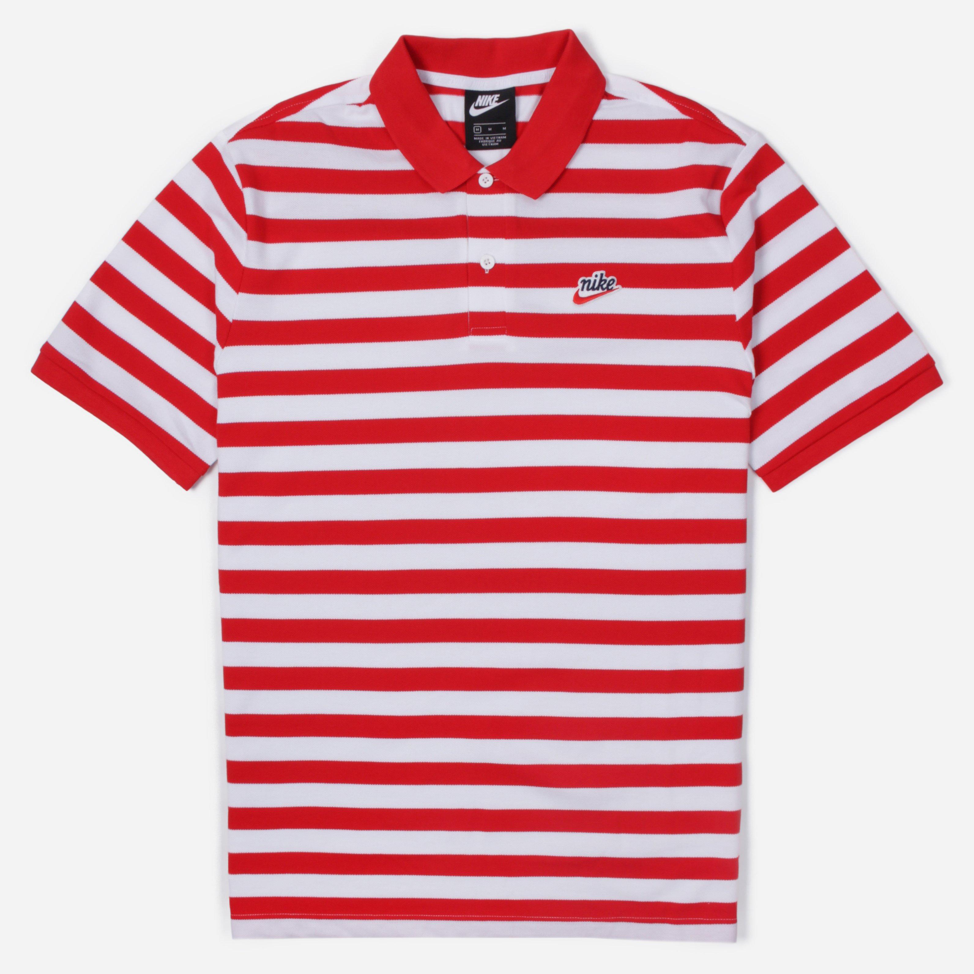 nike red polo shirt