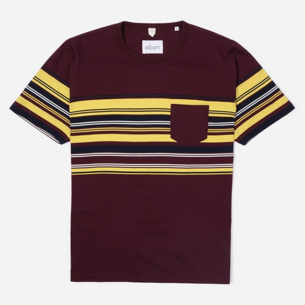 Albam Buren Stripe Short Sleeve T-Shirt