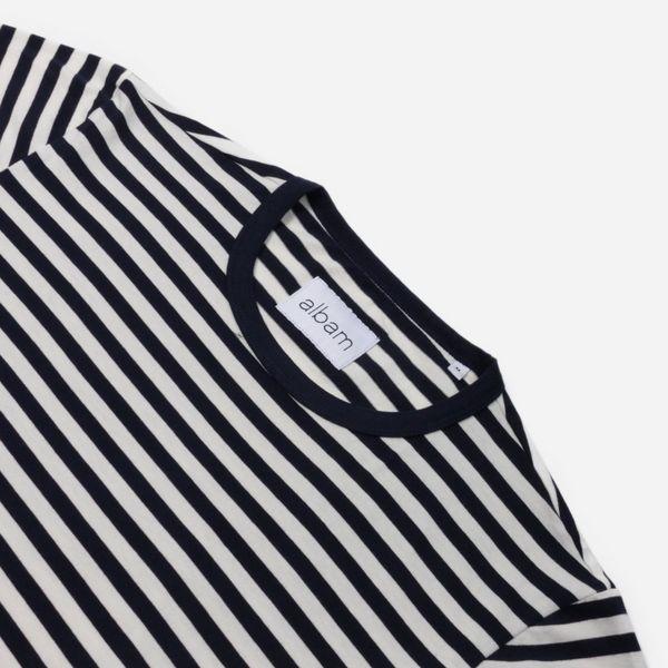 Albam Fletcher Stripe Short Sleeve T-Shirt