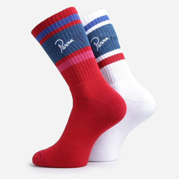 by Parra Striped Crew Sock Pack