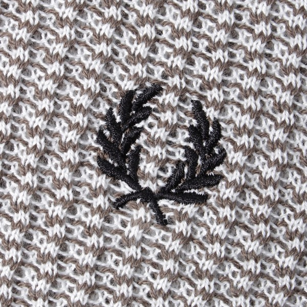 Fred Perry Two Coloured Texture Knit Polo Shirt