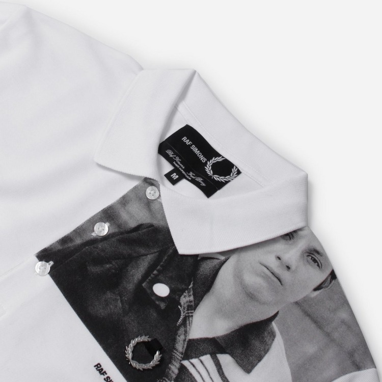 Fred Perry x Raf Simons Shoulder Print Polo Shirt