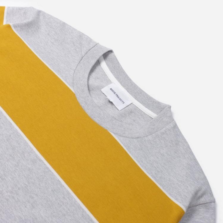 Norse Projects Johannes 3 Stripe Short Sleeve T-Shirt