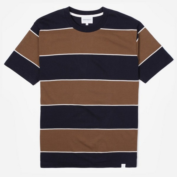 Norse Projects Johannes 3 Stripe Short Sleeve T-Shirt