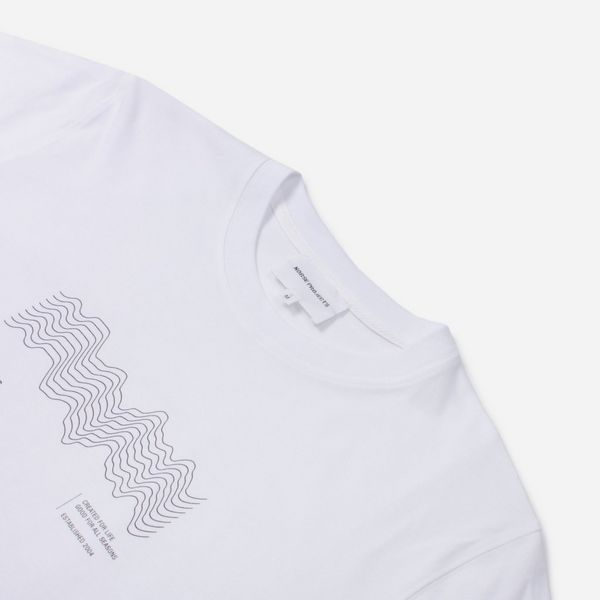 Norse Projects Niels Topography Logo Short Sleeve T-Shirt