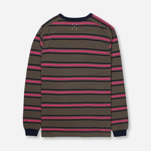 Pop Trading Company Harold Long Sleeve Stripe T-Shirt
