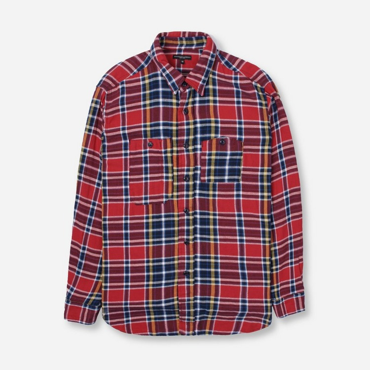 Engineered Garments Cotton Twill Long Sleeve Plaid Work Shirt