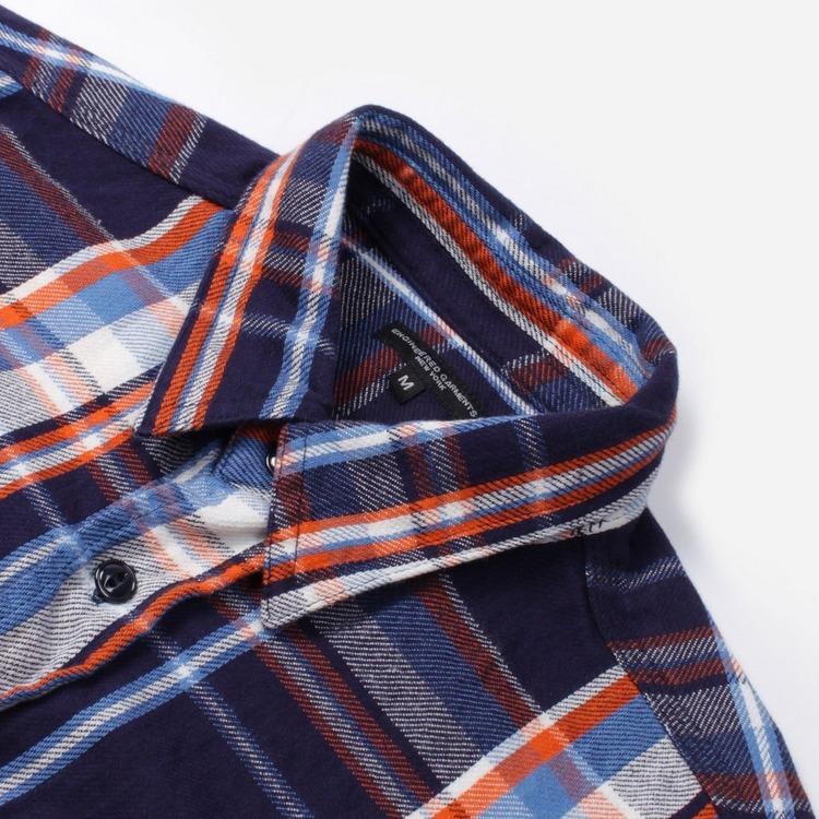 Engineered Garments Cotton Twill Long Sleeve Plaid Work Shirt