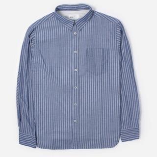 Universal Works Ticking Stripe New Standard Long Sleeve Shirt