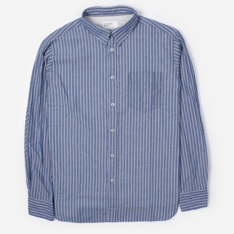 Universal Works Ticking Stripe New Standard Long Sleeve Shirt