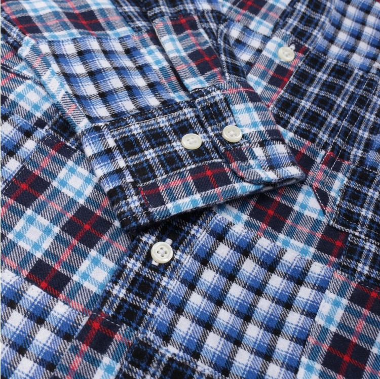 Universal Works Brushed Patchwork Garage Long Sleeve Shirt