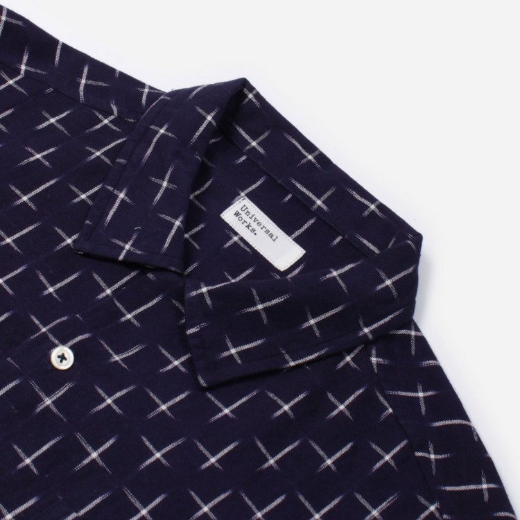 Universal Works Double Ikat Hash Garage Shirt