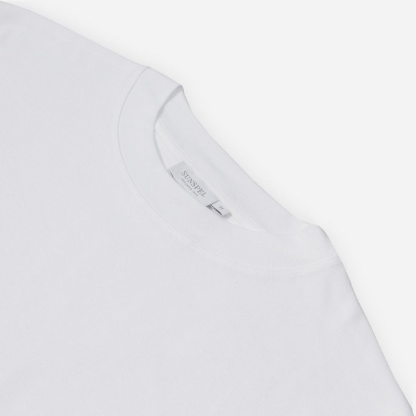 Sunspel Mock Turtle Neck T-Shirt