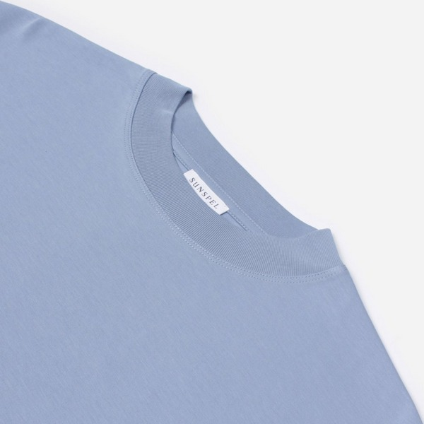 Sunspel Mock Turtle Neck T-Shirt