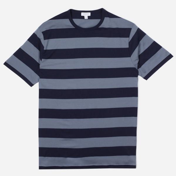 Sunspel Classic Crew Stripe T-Shirt