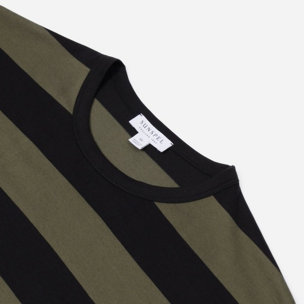 Sunspel Classic Crew Stripe T-Shirt