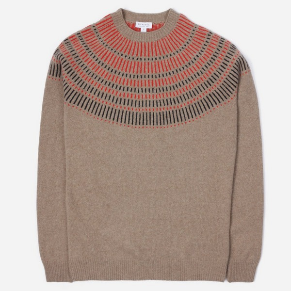 Sunspel Lambswool Yoke Detail Jumper